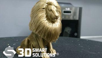 Tượng Sư Tử vàng được In 3D tinh xảo đến không ngờ!