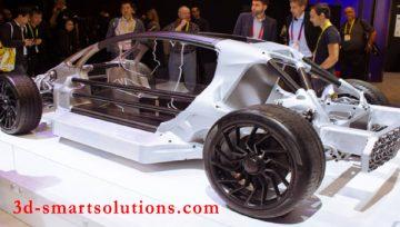 Những mẫu xe được làm bằng công nghệ in 3D trưng bày tại CES