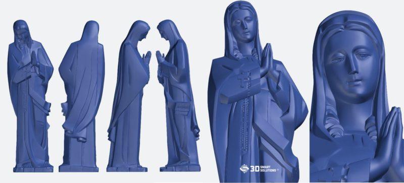 quét 3d tượng đức mẹ