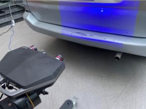 Đo kiểm thân xe ô tô kết hợp Solutionix C500 và Photogrammetry