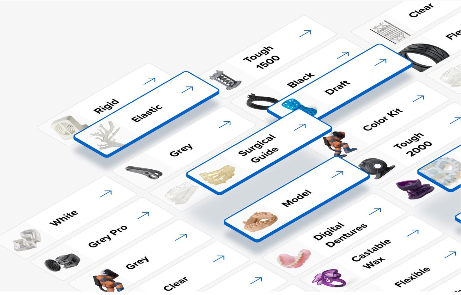 Với 25+ loại vật liệu, Formlabs đáp ứng vô vàn yêu cầu của khách hàng