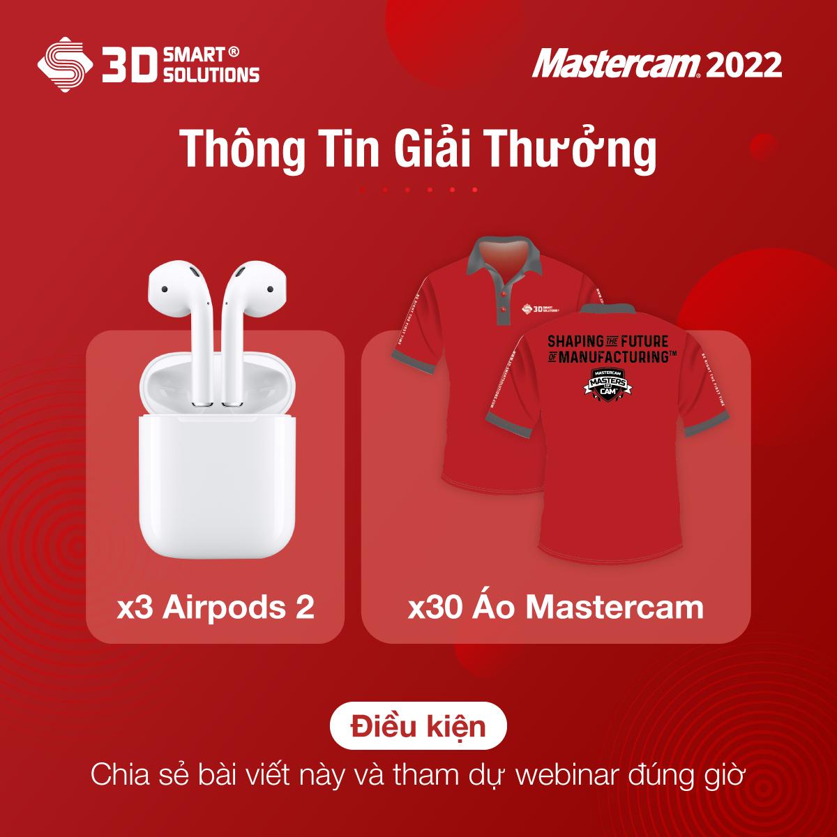 Quà tặng cho người tham dự nắm chuyên môn Mastercam