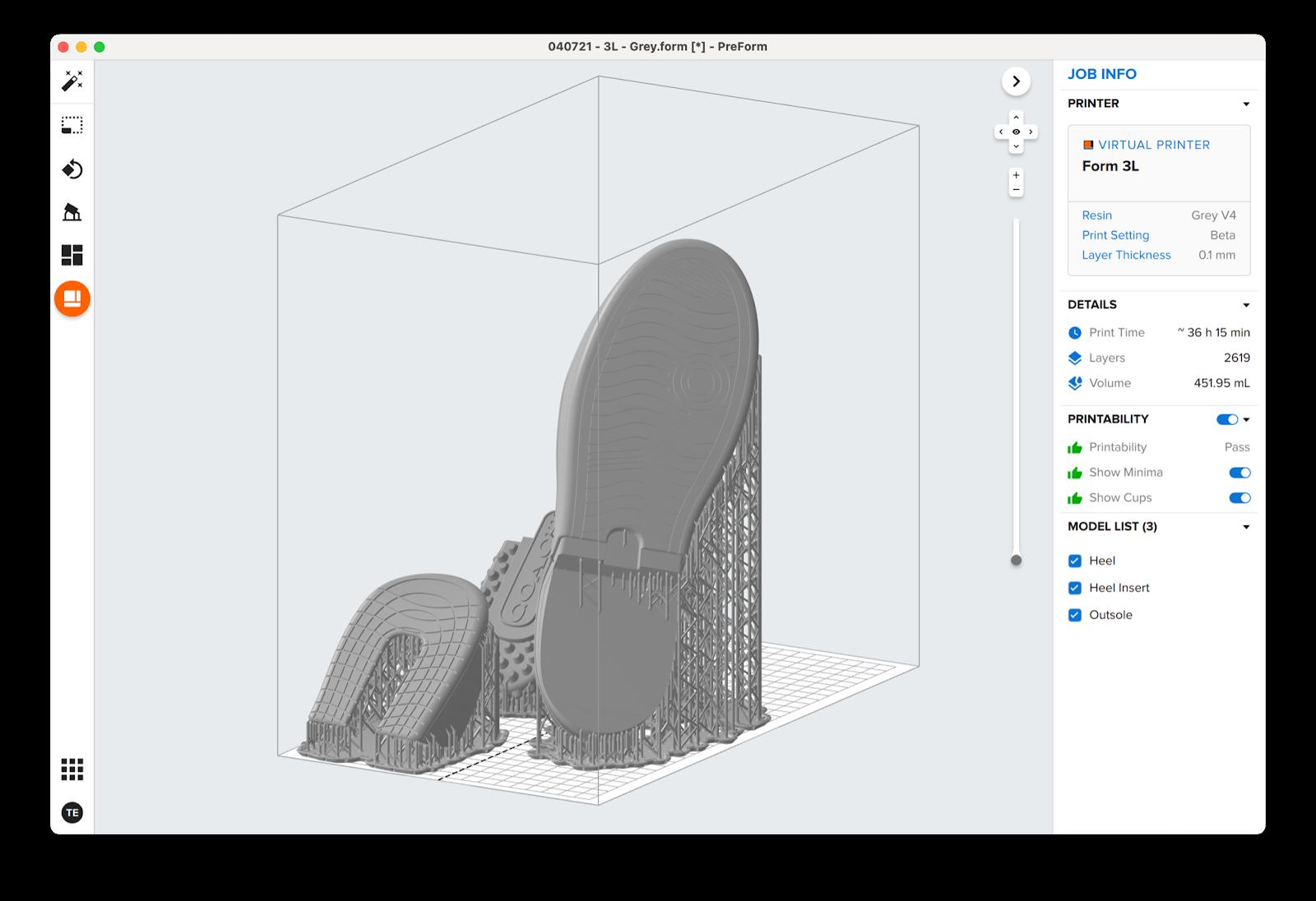 In 3D khuôn đế giày với Formlabs Form 3L